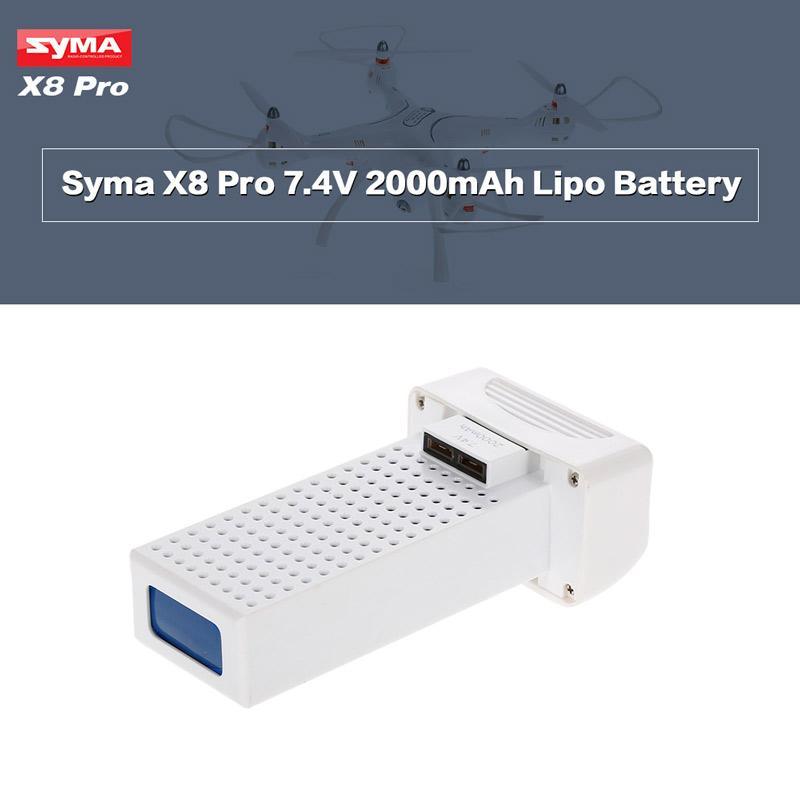 Hình ảnh BỘ 2 Pin máy bay Flycam Syma X8 Pro - 7.4V 2000mah