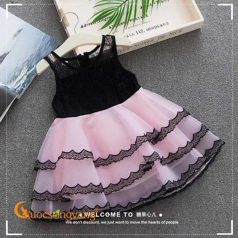 Giá bán Váy đầm bé gái váy đầm xếp lớp bé gái GLV091