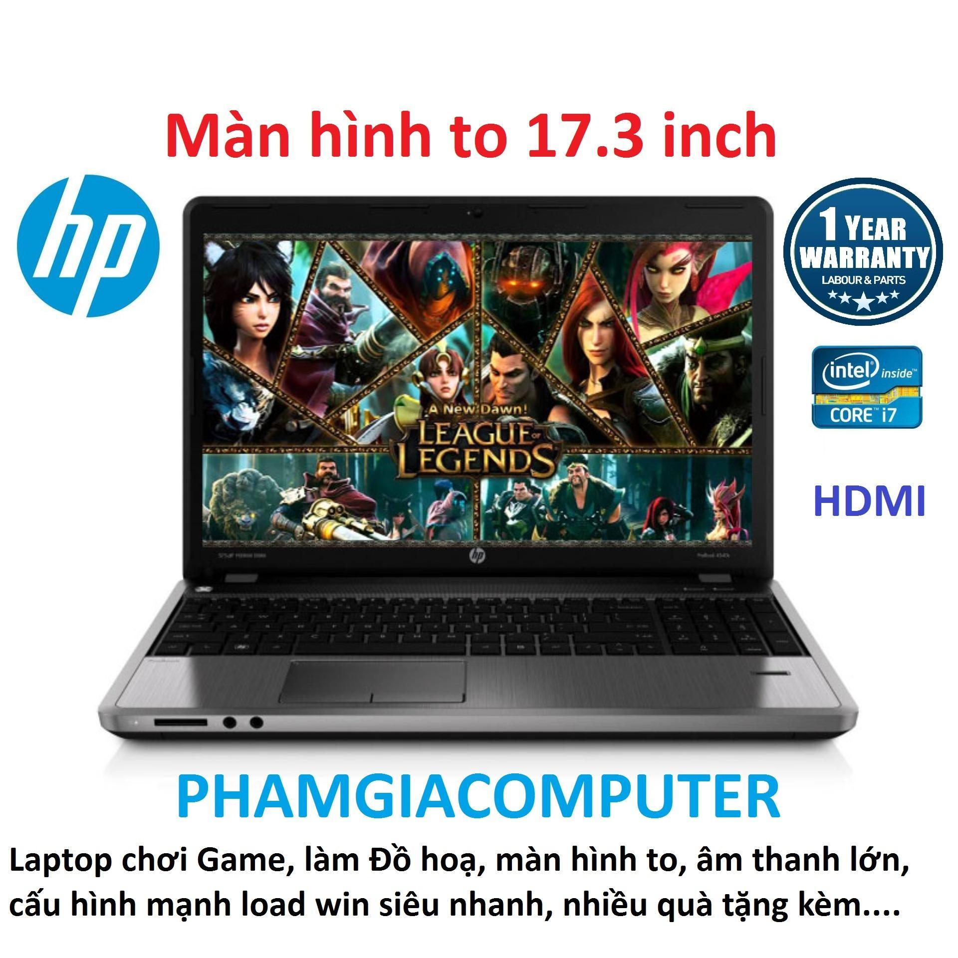 Laptop HP Probook 4730s Core i7 Ram 8G SSD 180G VGA rời AMD màn hình 17.3 - Máy nhập khẩu Nhật-Tặng Balo, chuột không dây