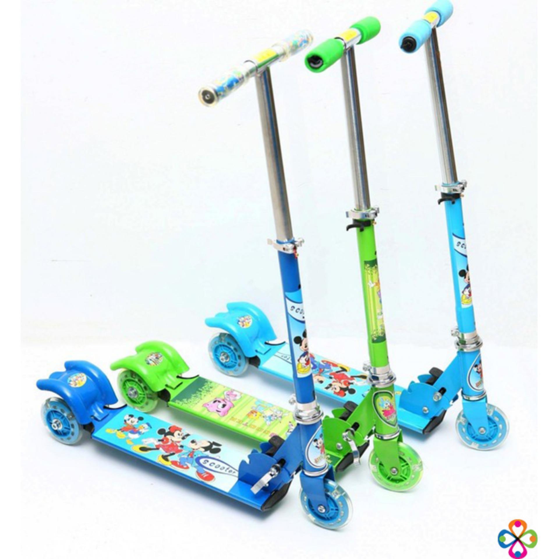 Đồ chơi bé gái 6 tuổi, Xe đồ chơi cho bé trai - MUA NGAY Xe Scoster bánh phát sáng, cho trẻ kích thích vận động, cao, khỏe, phát triển toàn diện- Bảo hành UY TÍN 1 đổi 1