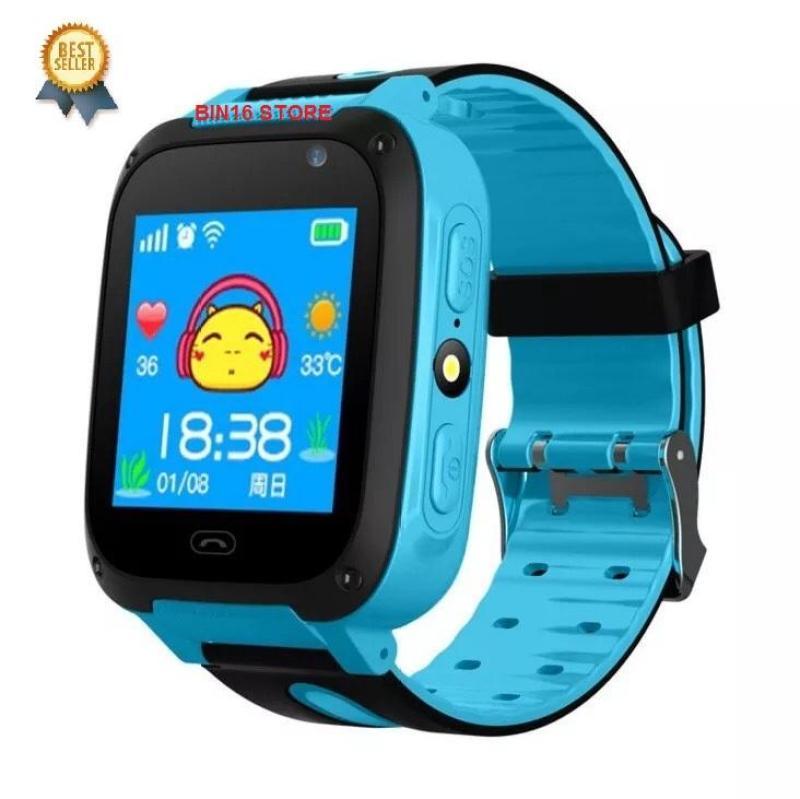 đồng hồ định vị trẻ em có tiếng Việt, chụp ảnh, chống nước bảo hành 6 tháng (xanh - hồng) bán chạy