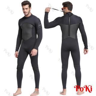 Bộ đồ lặn, quần áo lặn biển cho NAM - 3mm BLACK giữ ấm, thoáng khí, chống thầm nước cao cấp - POKI thumbnail