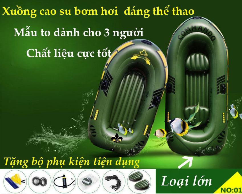 Hình ảnh Thuyền Cao Su Bơm Hơi Intex, Thuyền Bơm Hơi Cao Cấp- Thuyền Phao Cho 2 Người Tặng Bộ 5 Phụ Kiện Chất Liệu Cao Su Dày Độ Bền Cao