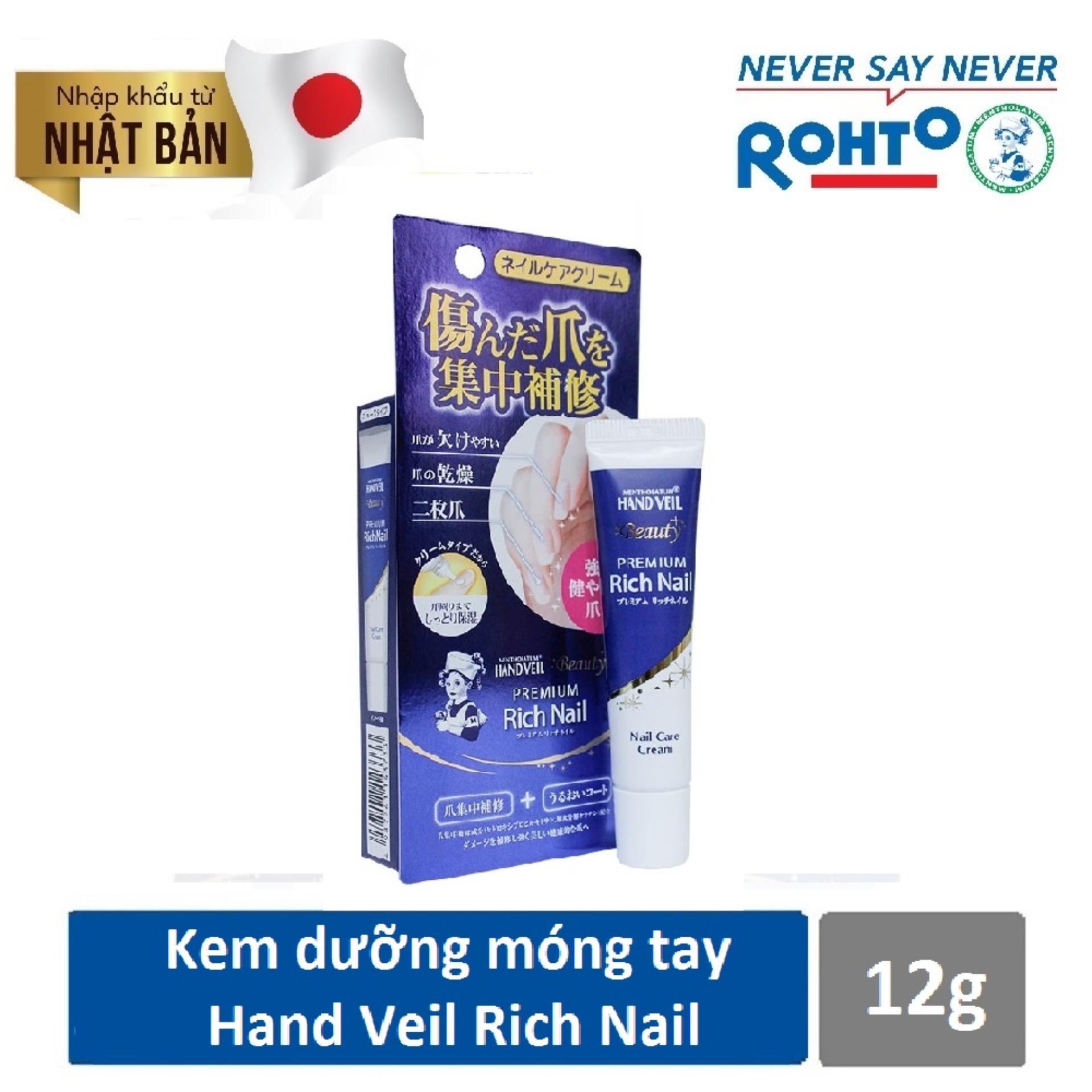 Mua Kem Dưỡng Mong Tay Mentholatum Hand Veil Premium Rich Nail 12G Nhập Khẩu Từ Nhật Bản Trực Tuyến