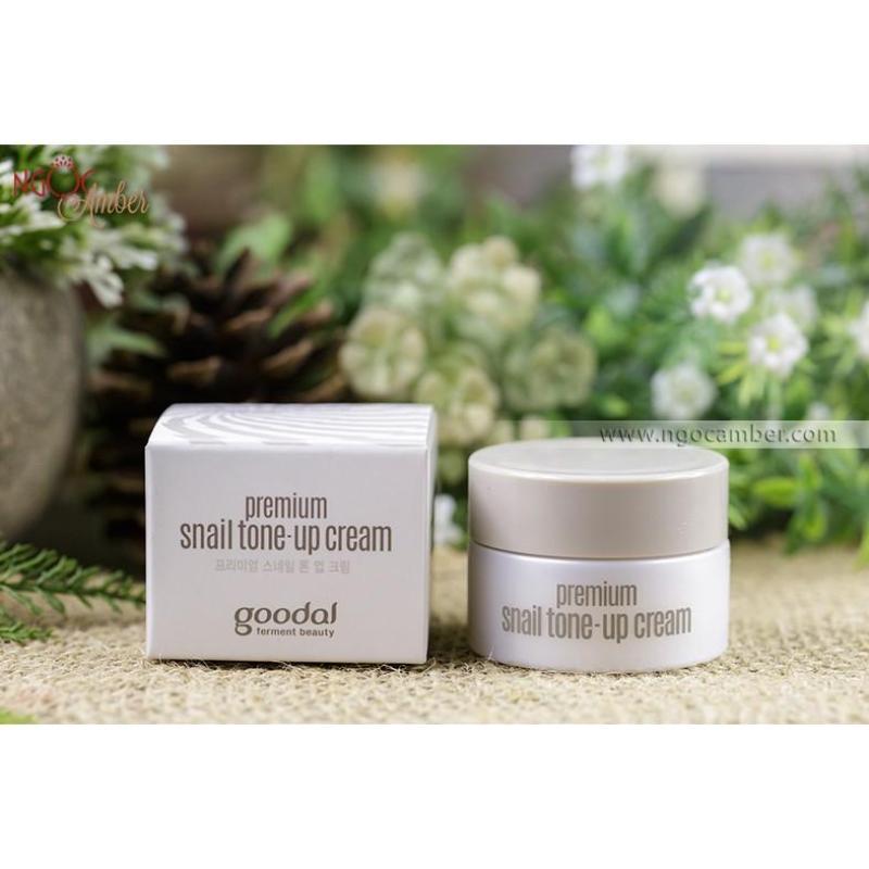 Kem ốc sên dưỡng trắng da Goodal Premium Snail Tone Up Cream - zise mini 10ml