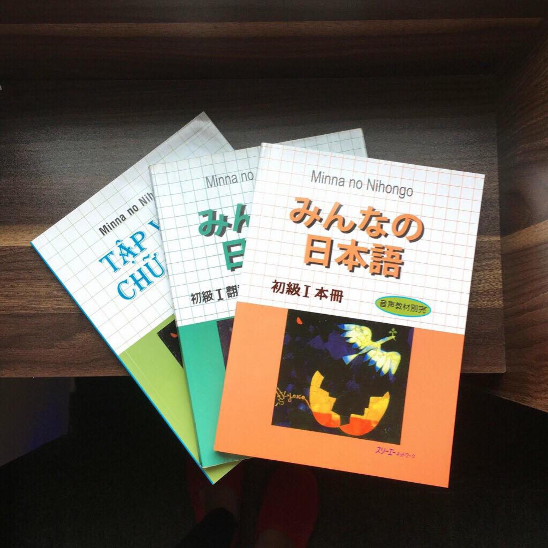 Siêu Tiết Kiệm Khi Mua Sách - Combo 3 Cuốn Mina No Nihongo T1 SGK  + Bản Dịch + Tập Viết