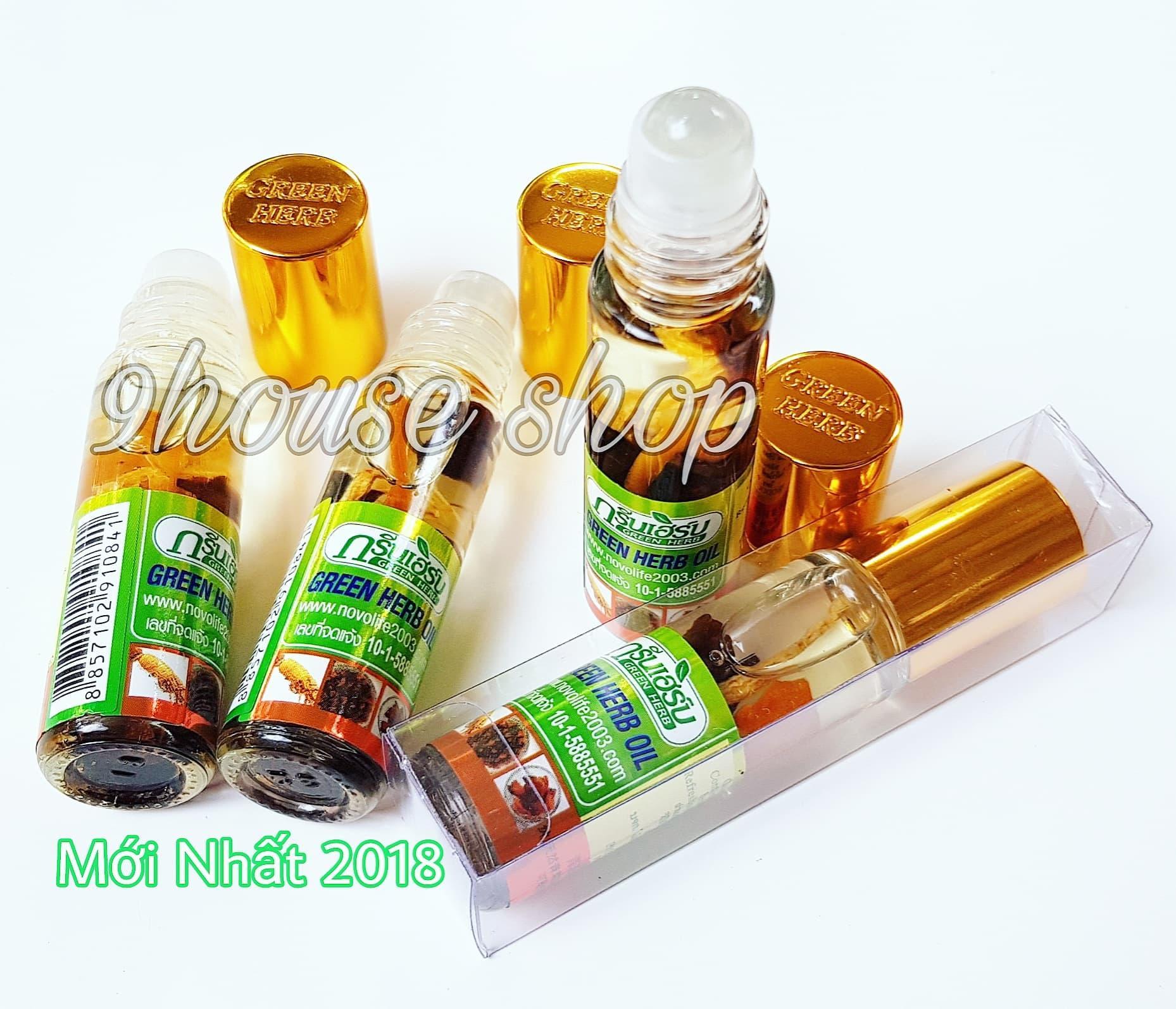 Bộ 2 Dầu Nhân Sâm Ginseng Green Herb Oil Thái Lan(nhập khẩu) - 8ml x 2chai