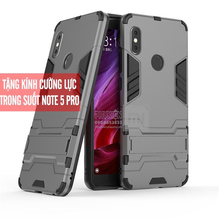 Hình ảnh [7 màu] Ốp lưng dùng cho máy Xiaomi Redmi Note 5 / Note 5 Pro iRON - MAN Nhựa PC cứng viền dẻo chống sốc