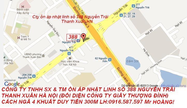 bản đồ showroom lioa 388 Nguyễn Trãi Thanh Xuân Hà Nội
