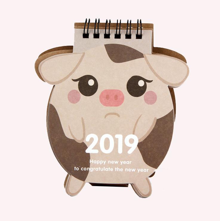 Mua Lịch để bàn hình heo 2019