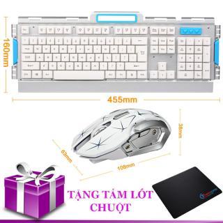 Combo bàn phím và chuột không dây thời trang HK50 (Tặng kèm lót chuột) thumbnail