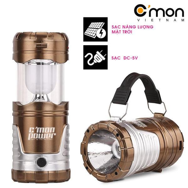 Đèn pin, đèn bão sạc năng lượng mặt trời CMON POWER