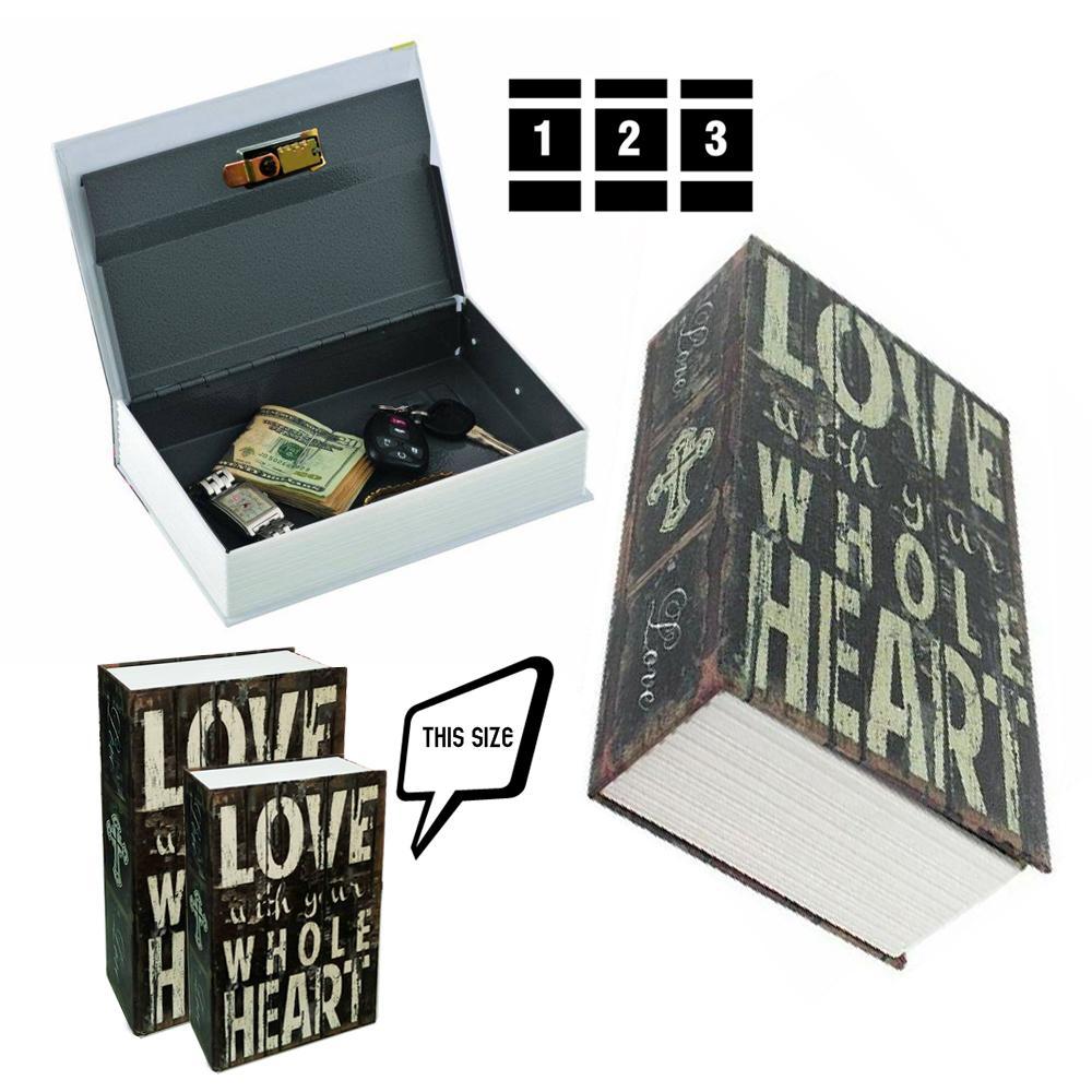 Két sắt giả sách khóa điện tử Digital - hộp đựng bảo mật giấu đồ - GD081