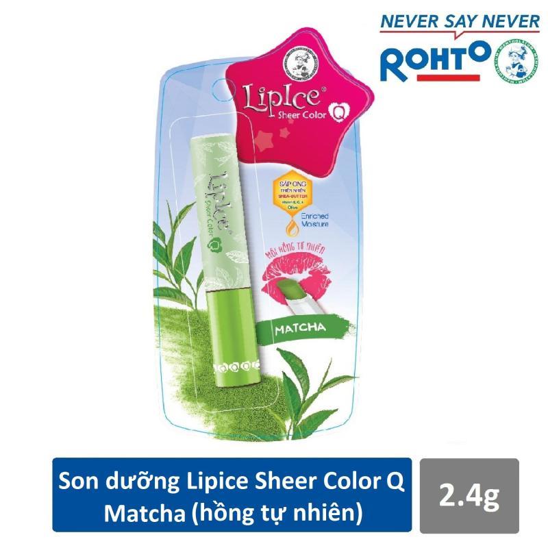Son dưỡng Lipice Sheer Color Q Matcha 2.4g (Hồng tự nhiên) nhập khẩu