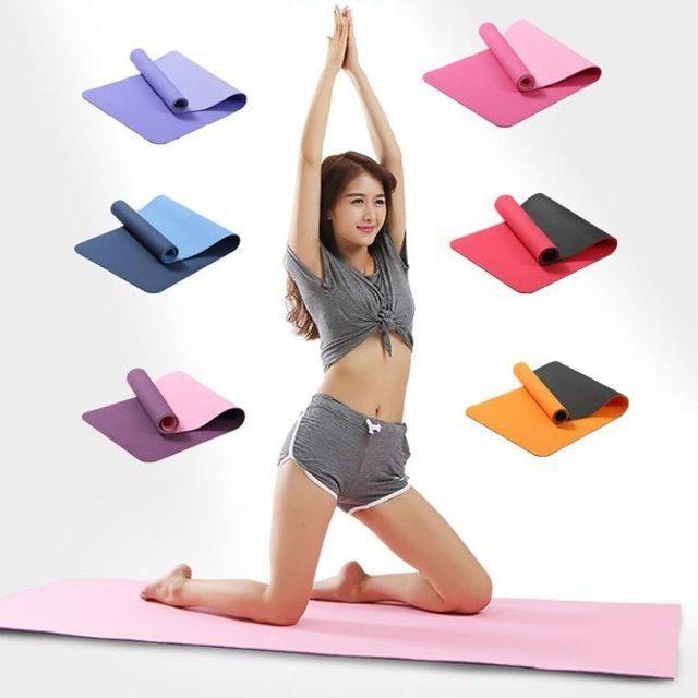 Hình ảnh Thảm tập Yoga siêu bền đúc liền 1 lớp cao cấp kích thước 1m73 x 61cm x 3mm ( CÓ TÚI ĐỰNG )
