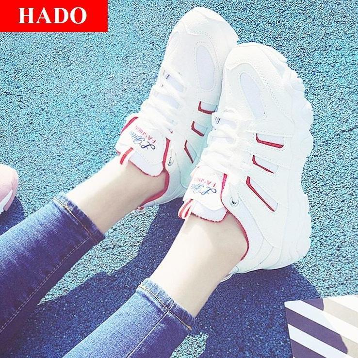 Giày Sneaker Thể Thao Nữ Mẫu Mới VARANO VR56199 Trắng Phối Đỏ
