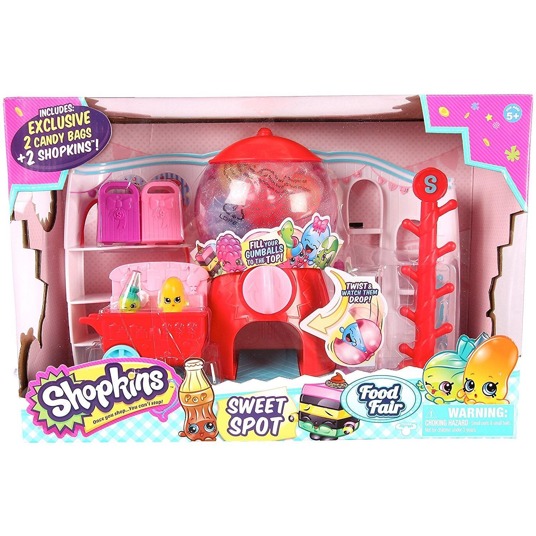 Hình ảnh Bộ Đồ Chơi Máy Bán Kẹo Gum Shopkins Food Fair Sweet Spot Playset (Mỹ)