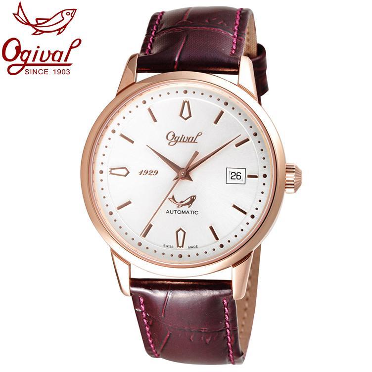 Đồng hồ nam mặt kính sapphire Ogival OG1929-24AGR-GL trắng bán chạy