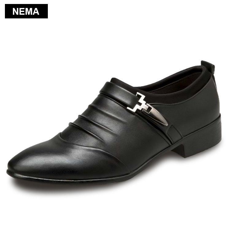 Hình ảnh Giày tây thời trang Nema NM51618B-Đen