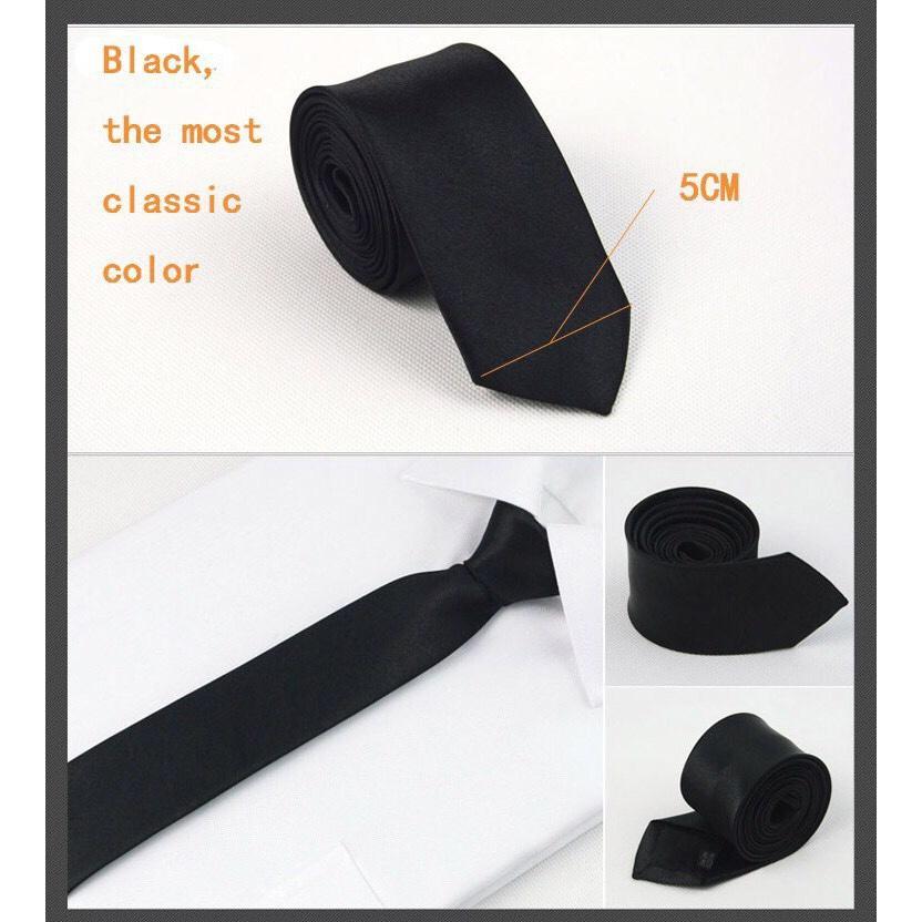 Hình ảnh Cà Vạt Lụa Bản Nhỏ 5cm Cà vạt Hàn Quốc - Cavat Nam Công Sở
