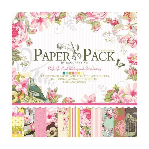 Mua PAPER PACK - GIẤY SCRAPBOOK HOA HỒNG V1 (12X12 INCH & STICKER) _GHM76