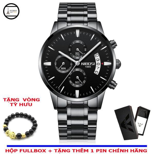 Nơi bán Đồng hồ nam, đồng hồ nibosi 2309 + Vòng tỳ hưu phong thủy