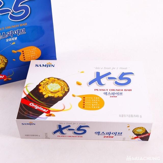 Hình ảnh Bánh ChocoStar X5 Peanut Crunch Bar 648g
