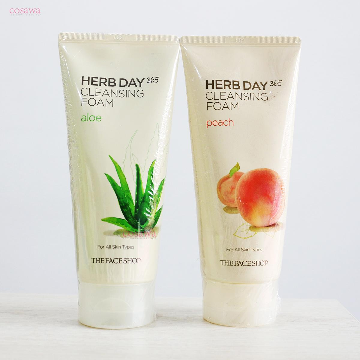 Sữa rửa mặt the face shop herb day 170ml
