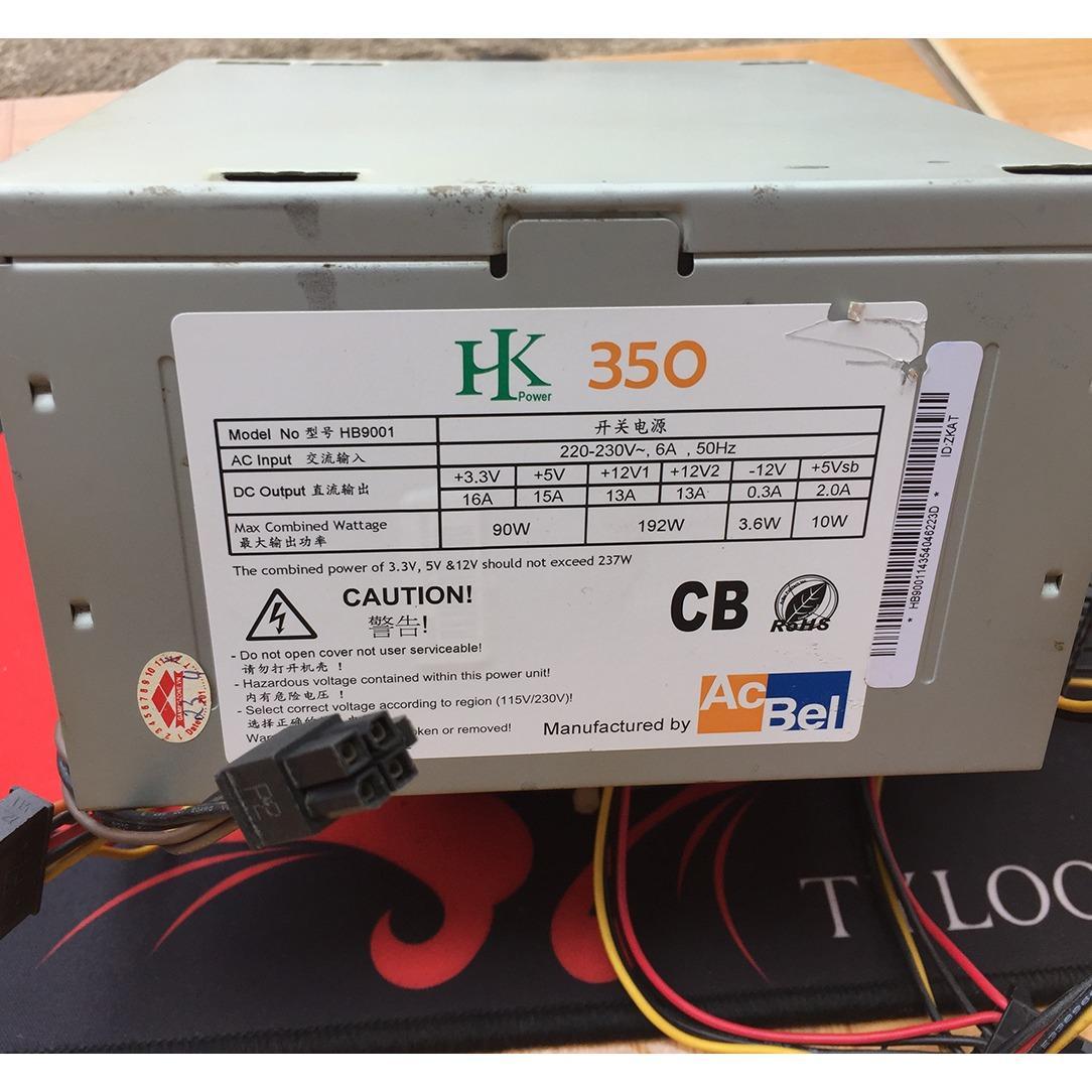 Nguồn PC Acbel ATX HK350 350W Công suất thật