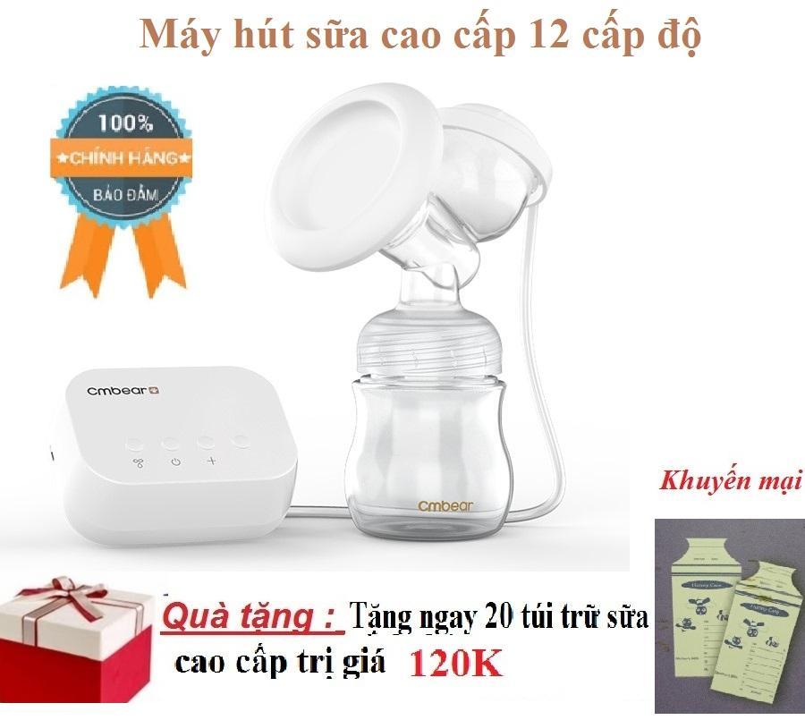 Giá Bán May Hut Sữa 12 Cấp Độ Cao Cấp Tặng Tui Trữ Sữa Có Thương Hiệu