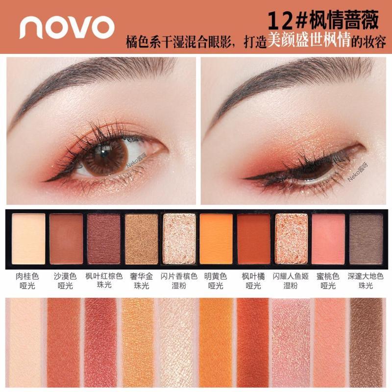 Bảng phấn mắt 10 màu Fashion  eye shadow của Novo (#12)