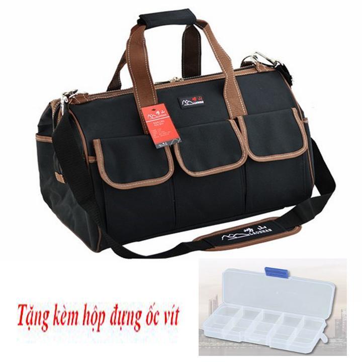 Túi đồ nghề chống nước - Tặng hộp đựng ốc vít