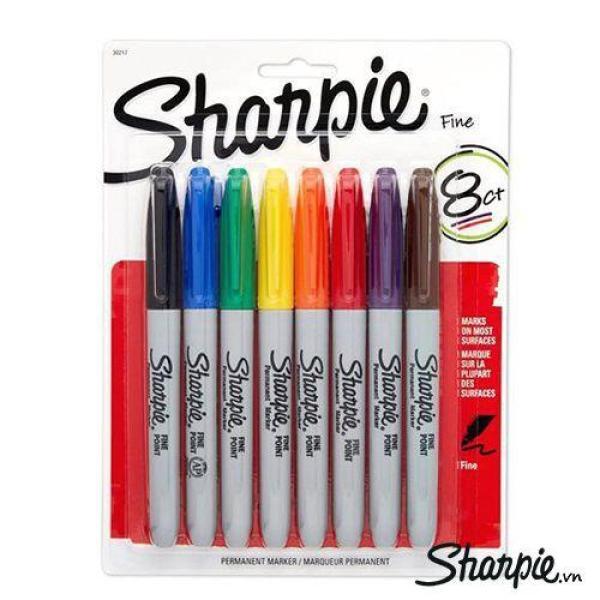 Mua Bút lông dầu vẽ trên nhiều chất liệu Sharpie Fine Point - Hộp 8 Màu
