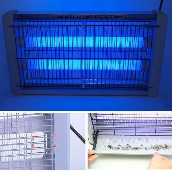 Đèn Bắt Muỗi diệt côn trung tiết kiệm điện Kill Pest LED-20W (Bạc) KL329