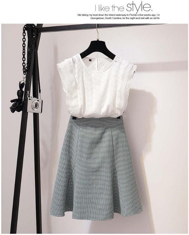 Hình ảnh Set Đầm Nữ Dự Tiệc Áo Ren Thêu Hoa Và Chân Váy Nữ Tính ( Bánh Bèo SG )