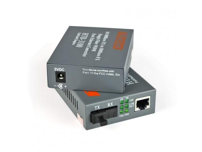 convert quang single mode 10/100Mbs HTB-3100AB
