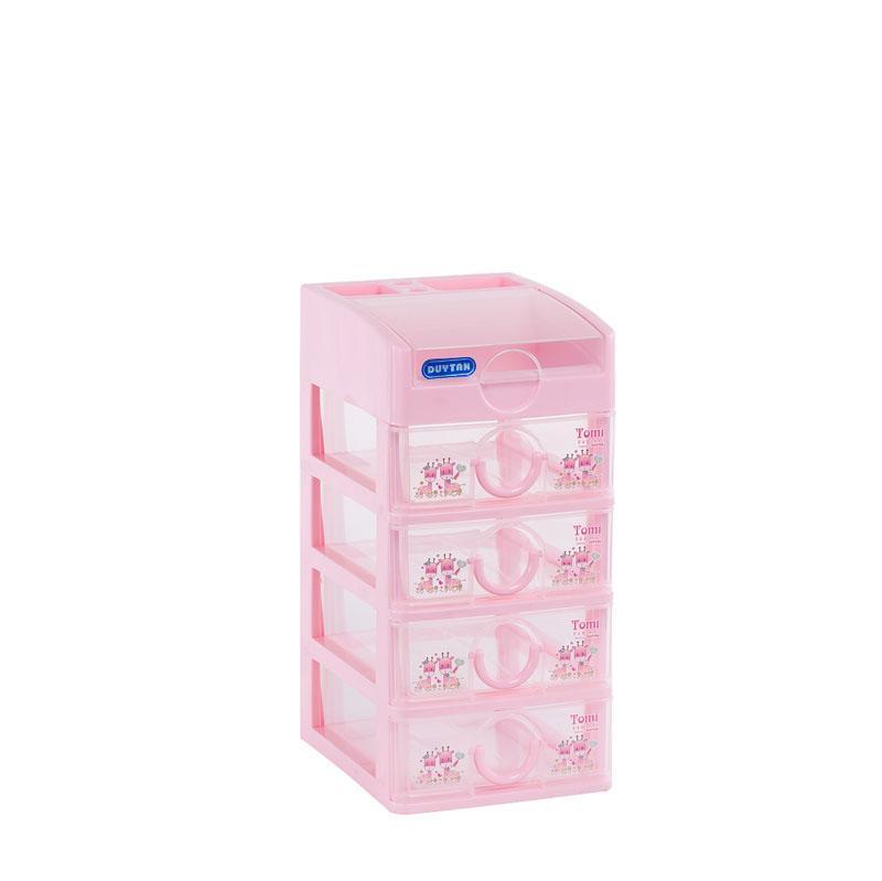 [HCM]Tủ nhựa Duy Tân TOMI Mini 5 tầng cam