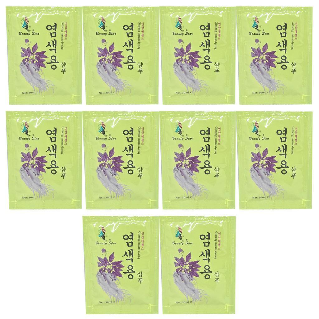 Combo 10 gói dầu gội đầu đen tóc thảo dược Beauty Star Hàn Quốc 30ml