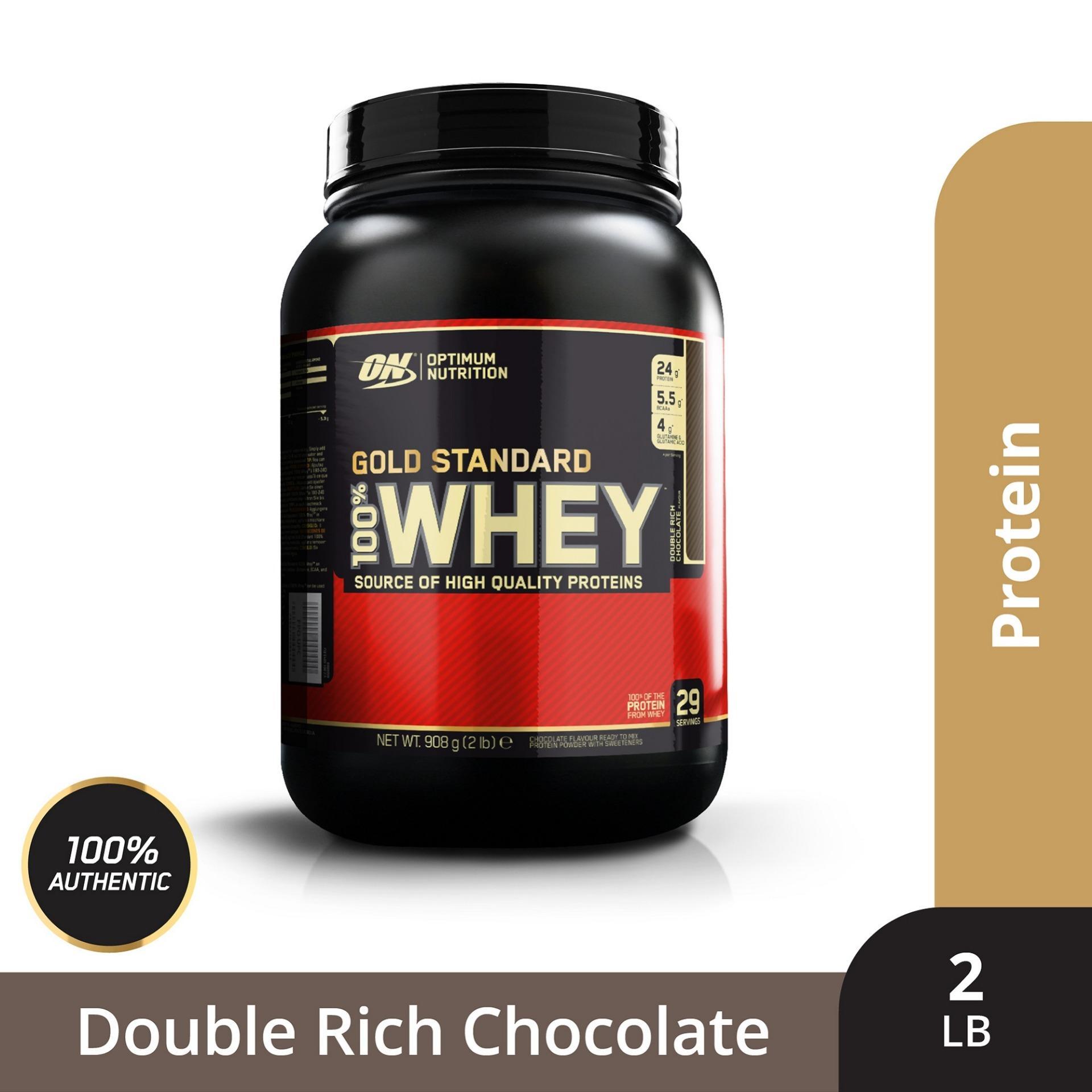 Thực phẩm bổ sung Optimum NutritionGold Standard 100% Whey Double Rich Chocolate2 lbs nhập khẩu