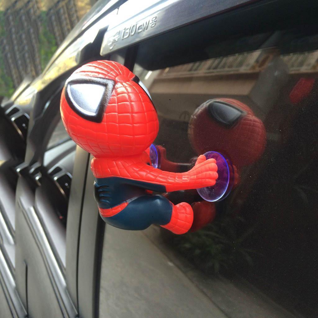 Hình ảnh Đồ chơi trang trí xe Người Nhện spider man Gắn Vào Đuôi Xe Máy, Kính Ô tô, biển số xe, vô lăng, bàn học.....