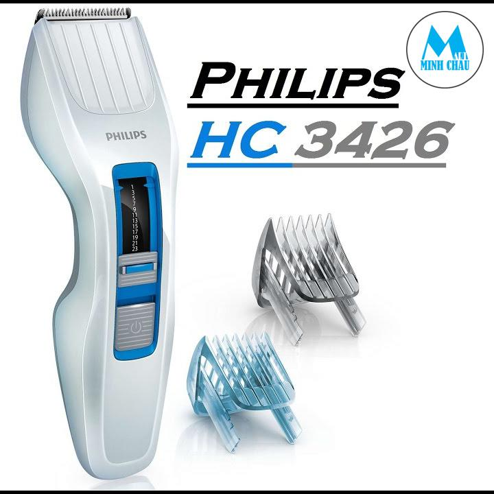 Máy Cắt Tóc Philips Hc3426 (Trắng) Hàng nhập khẩu