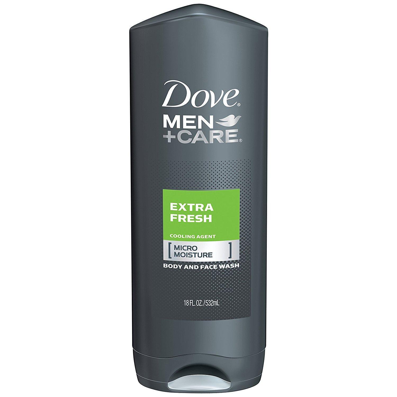 Hình ảnh Dove Men Care Body & Face Wash, Aqua Impact 18 FL ( 532 ml). Nhập từ Mỹ
