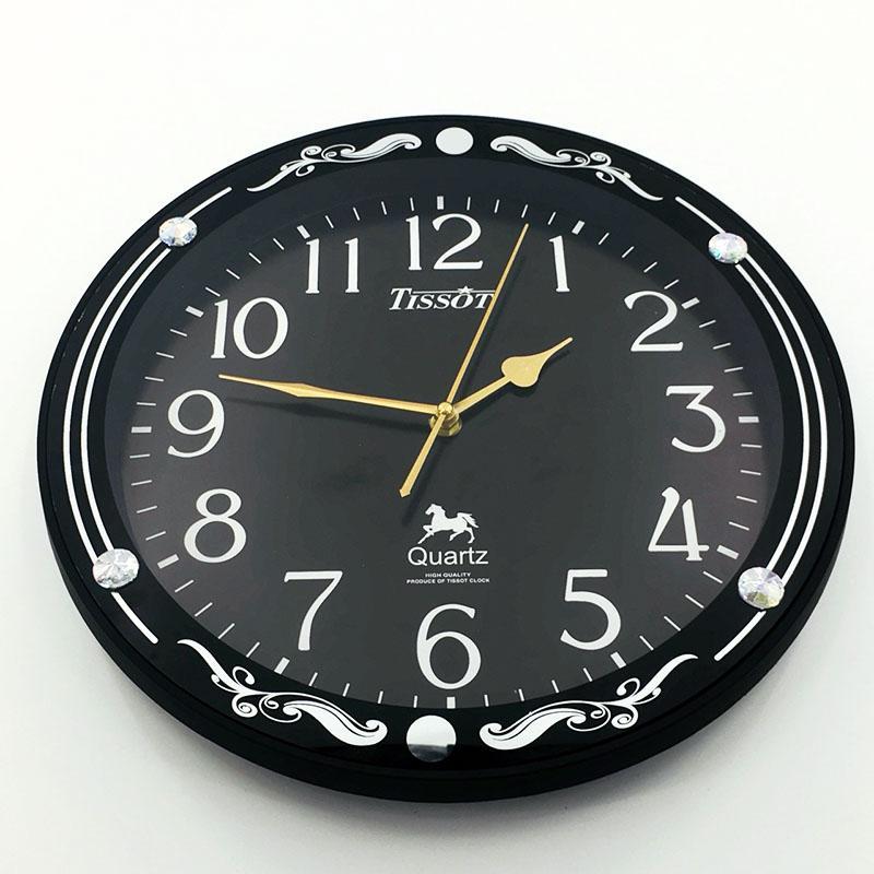 [ vati ] Đồng hồ treo tường hình  tròn S64 (đen) siêu bền bán chạy