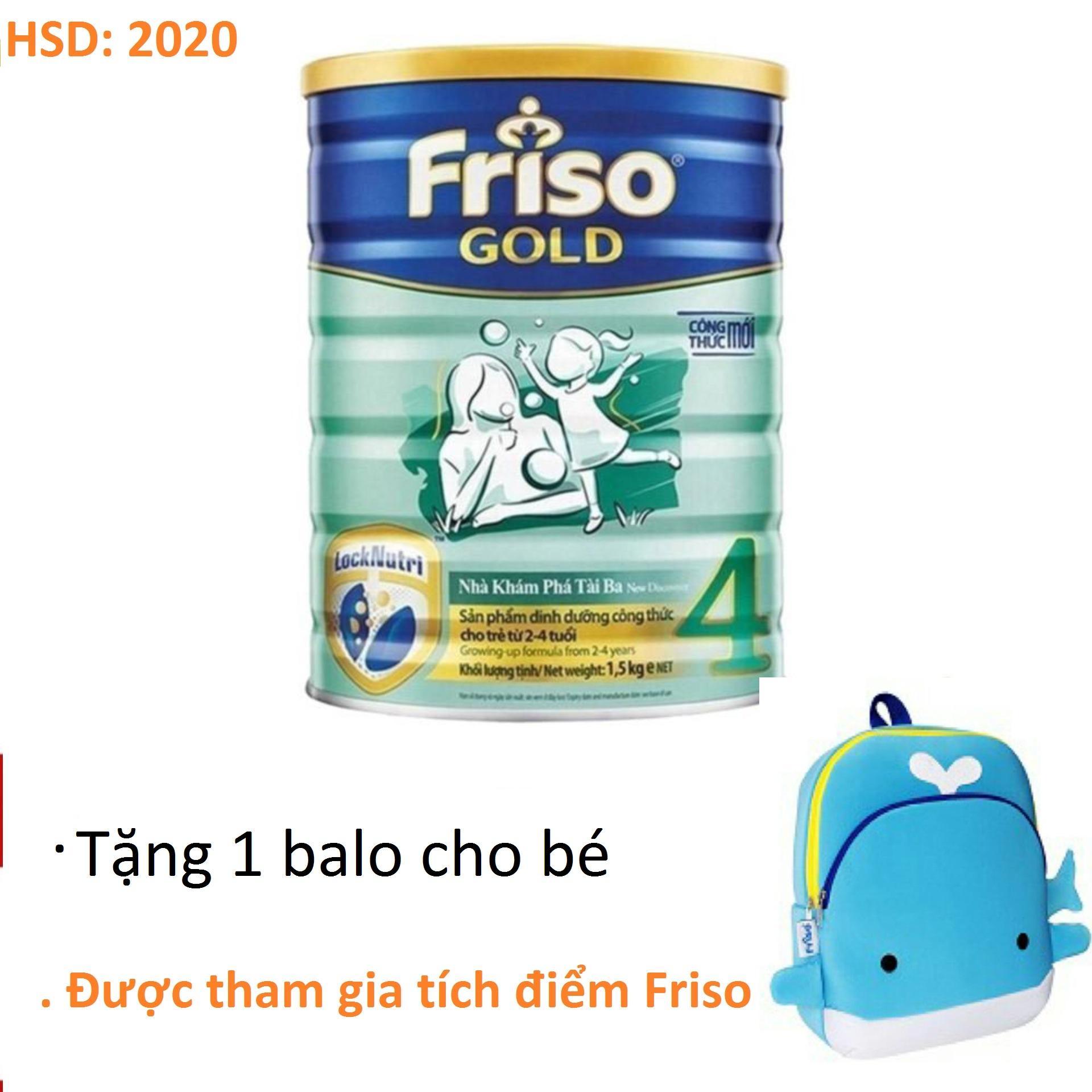 Sữa bột Friso Gold 4 1500g (tặng balo)