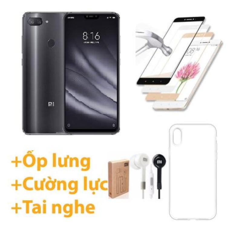Xiaomi Mi 8 Lite 64GB Ram 4GB (Đen) ShopOnline24 + Ốp lưng + Cường lực 5D Full màn + Tai nghe - Hàng nhập khẩu