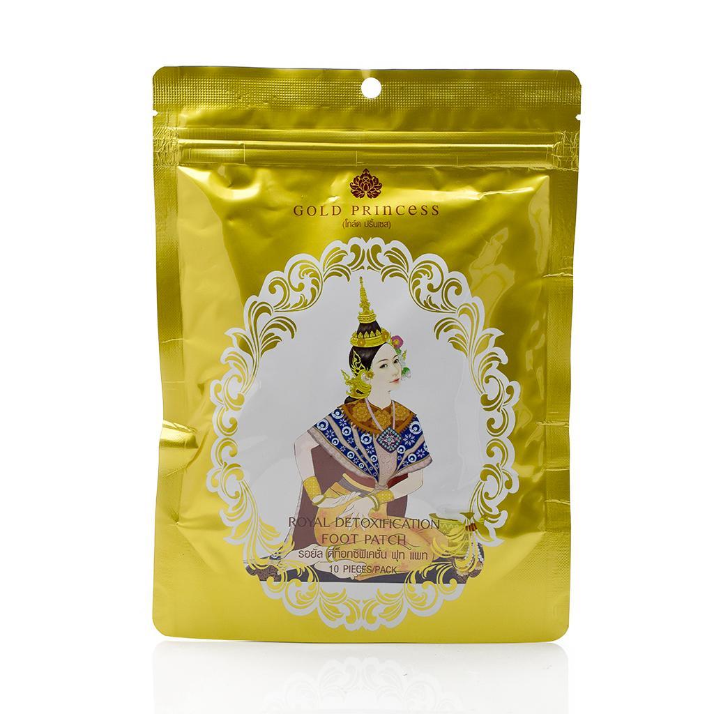 Miếng dán thải độc bàn chân Gold Princess Thái Lan (túi 10 miếng) tốt nhất
