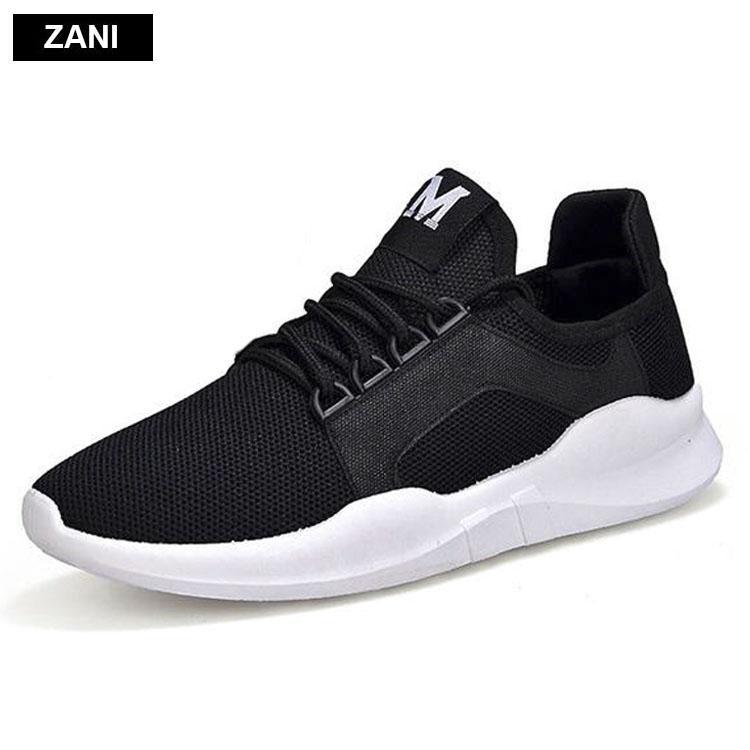 Giay Đoi Sneaker Thời Trang Nam Nữ Zani Zn8011Bw Đen Zani Chiết Khấu 50