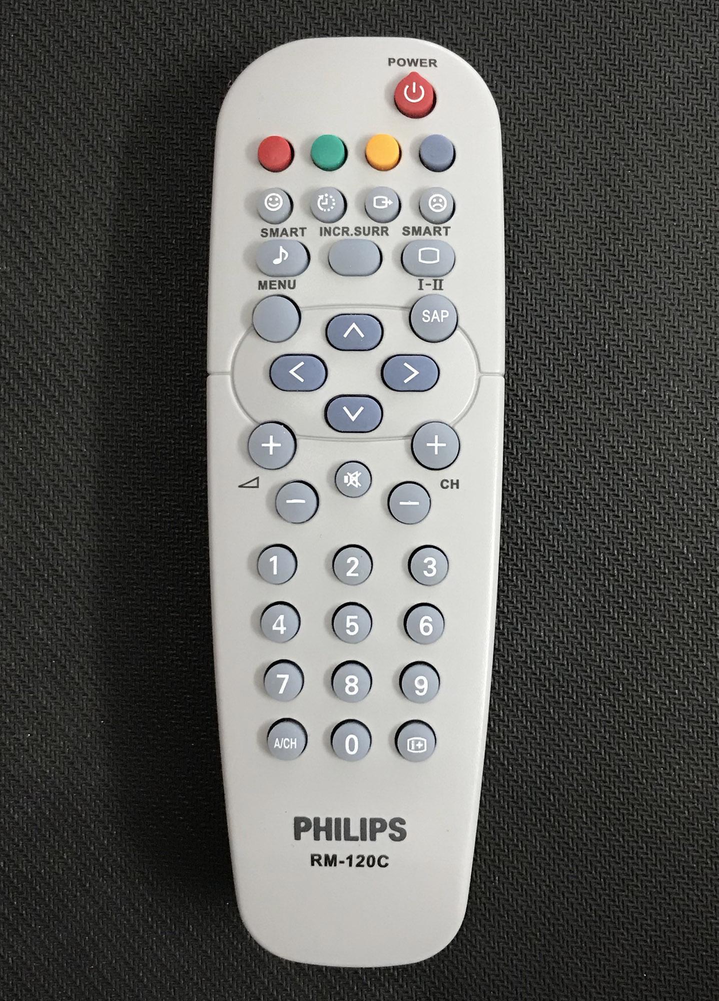 Bảng giá Điều khiển tivi philips RM-120C (xám)