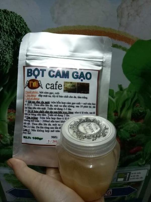Combo cám gạo cà phê mỡ trăn (tặng kèm bịch cám gạo cà phê) nhập khẩu