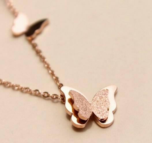 Dây chuyền bướm nổi 3D titanium cao cấp D29